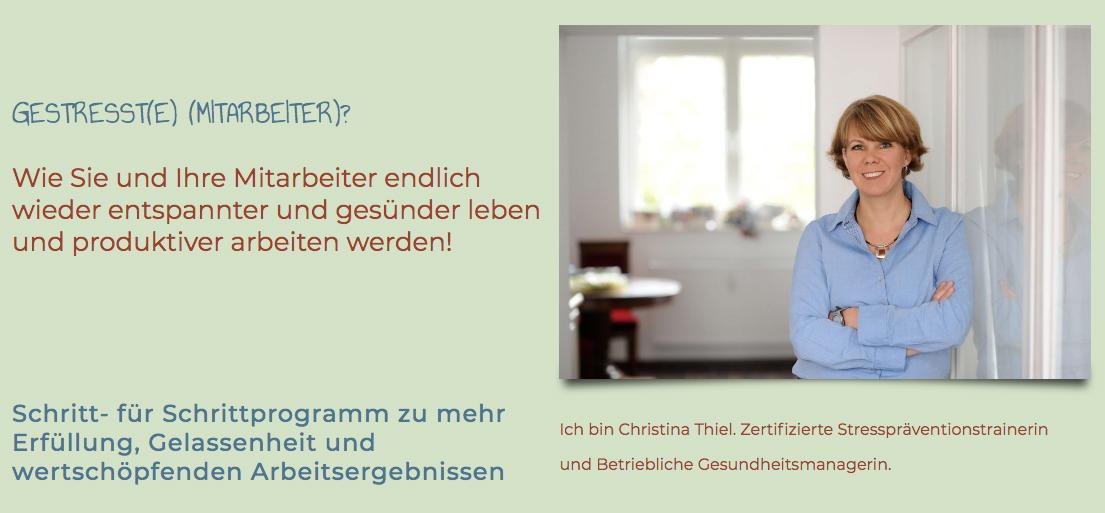 Christina Thiel Programm Mauru Prof. Gert Kaluza
